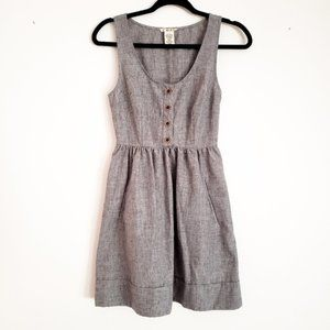 COPE Linen Chambray Dress Grey 0
